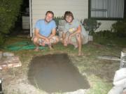 Dewald en Tim de braai builders: Funderinkje