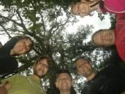 Poseren bij die groot boom