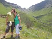 Moeke en Tim op weg naar Lesotho